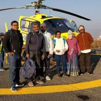 About to fly Muktinath from Kathmandu Helipad