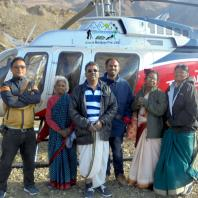 Clients at Muktinath Helipad