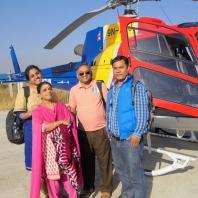 Kumaran family at Kathmandu airport