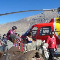 Horse riding from Muktinath Helipad