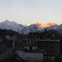 Mountain view from Muktinath Temple