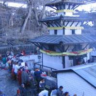 Muktinath Dhara in backyard of the temple