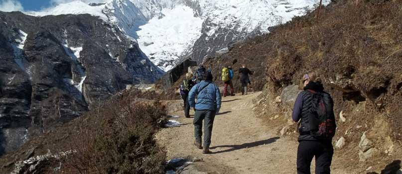 People Trekking in Nepal